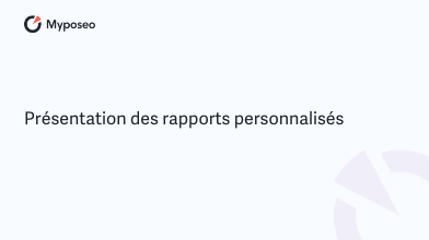 rapports personnalises